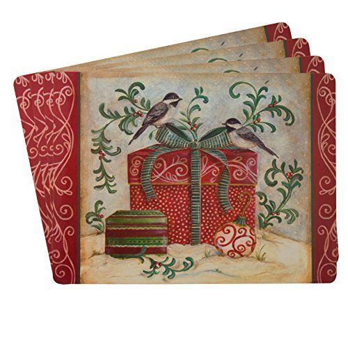 Amazon Com Sheffield Home Protective Decorative Cork Backed Placemats Set Of 4 Christmas Sheffield Home Placemats Decor