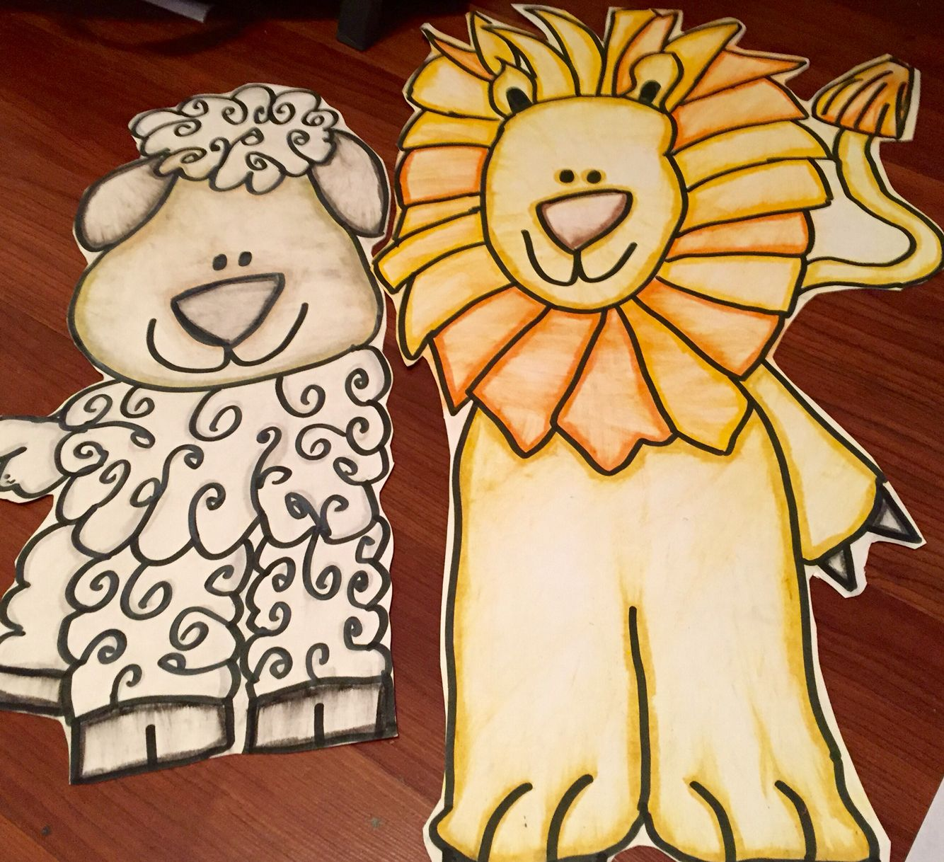 My Lion And Lamb For My March Bulletin Board