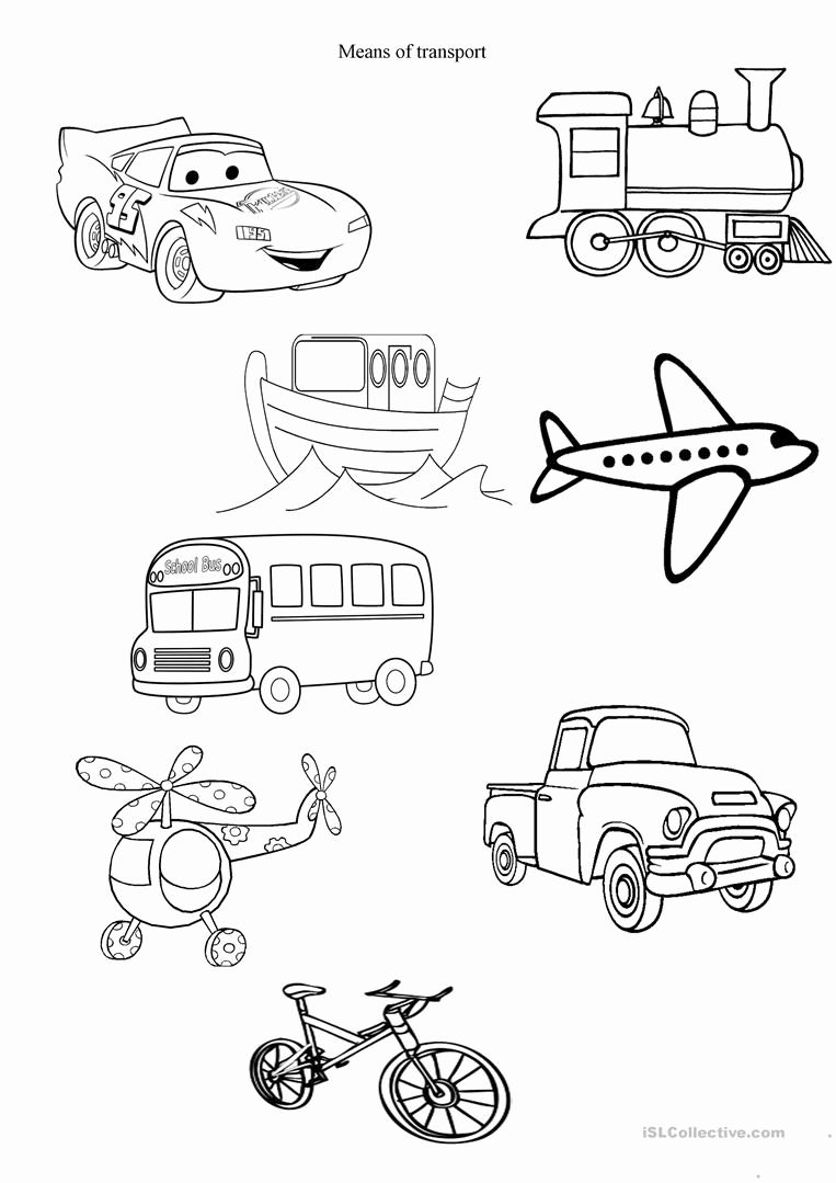 Worksheet For Kindergarten About Transportation In 2021 Kindergarten Worksheets Preschool Activities Kindergarten [ 1079 x 763 Pixel ]