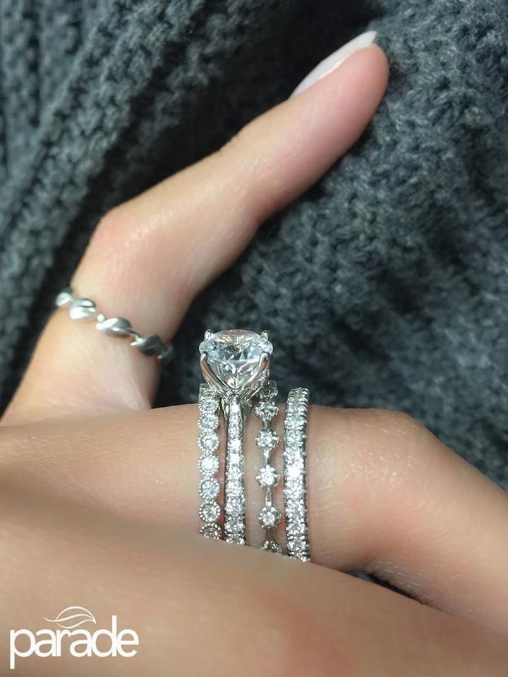 I Love How These Are Stacked And How Delicate They Are Wedding Rings Engagement Wedding Rings Engagement Rings