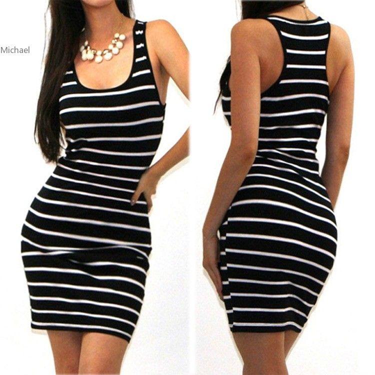 2017 summer beach dress O-neck women clothing casual Striped mini dress Sleeveless vestidos femininos plus size 63