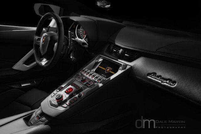 The fighter jet inspired interior of Lamborghini Aventador