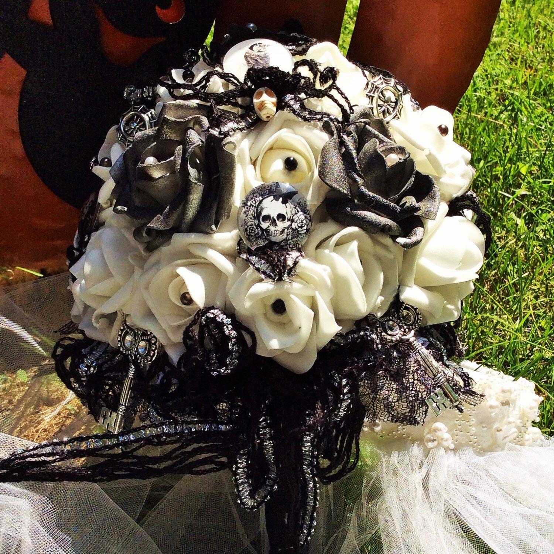 Halloween Wedding Bouquets: BOOTIFUL Corpse Bride Wedding Bouquet,Jack Skellington,Tim