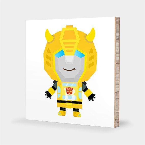 B for Bumblebee : ABC Block Bamboo Wall Art Series // Alphabet Kids ...