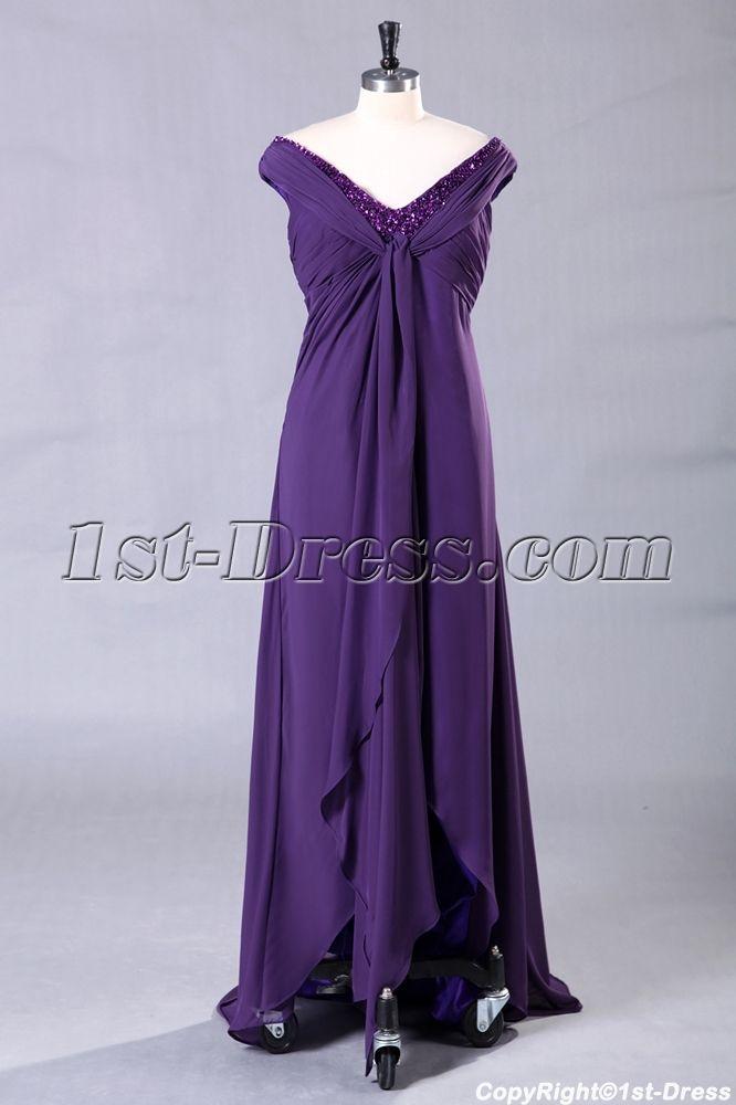 8538a09956b Purple Long Plus Size Prom Dress with High-low Hem  155.00
