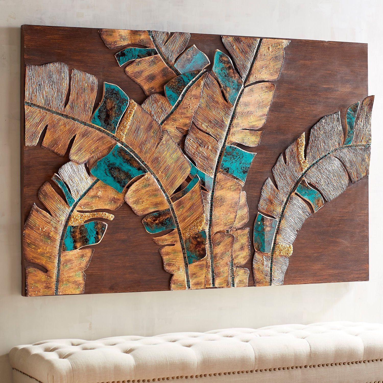 Mosaic palm leaves wall decor wall decor pinterest wall