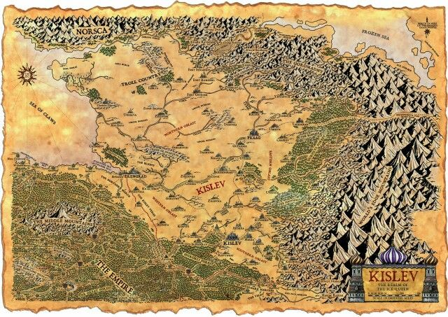 Empire Map Of The Kislev Region Fantasy Map Making Fantasy Map Map