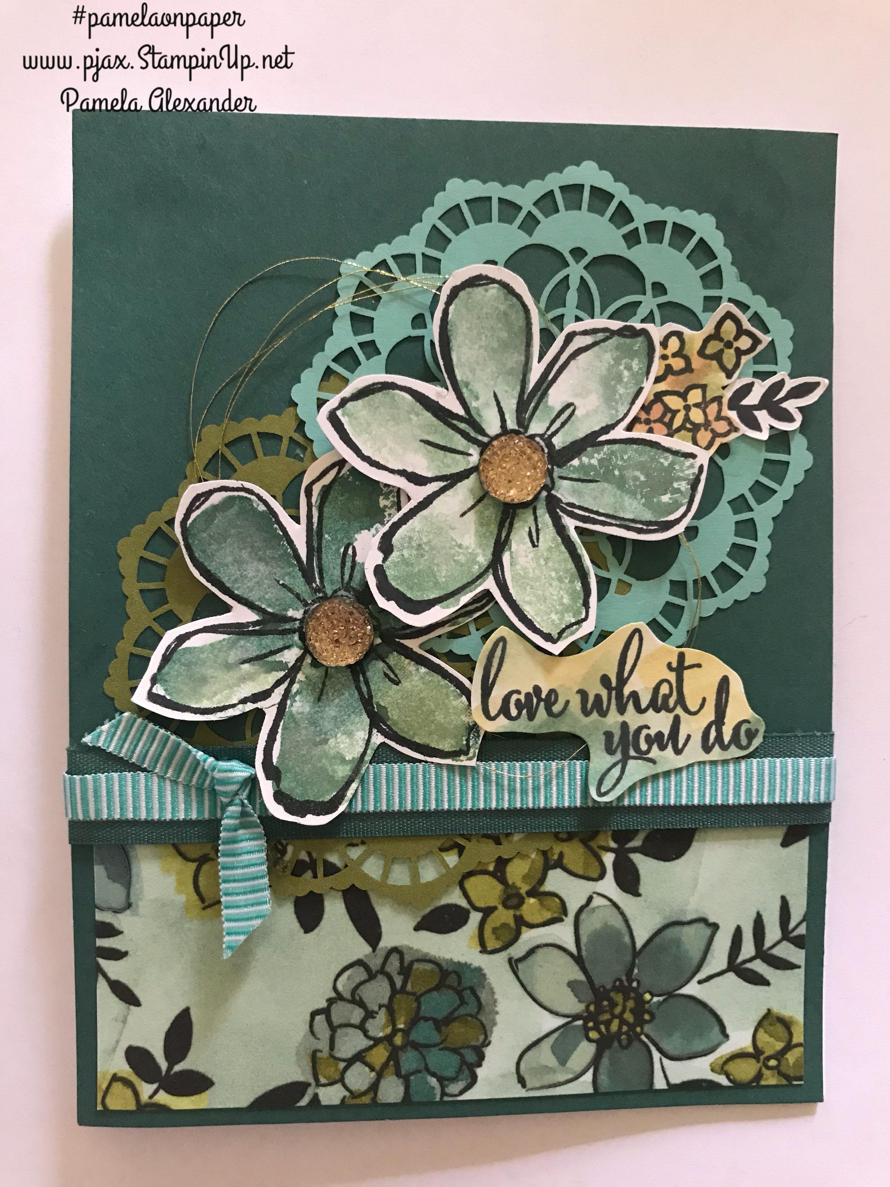 garden in bloom stampin' up pamelaonpaper  stamped
