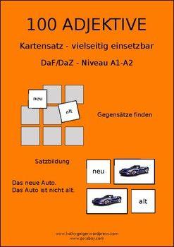 100 German adjectives 100 Deutsche Adjektive, level A1A2
