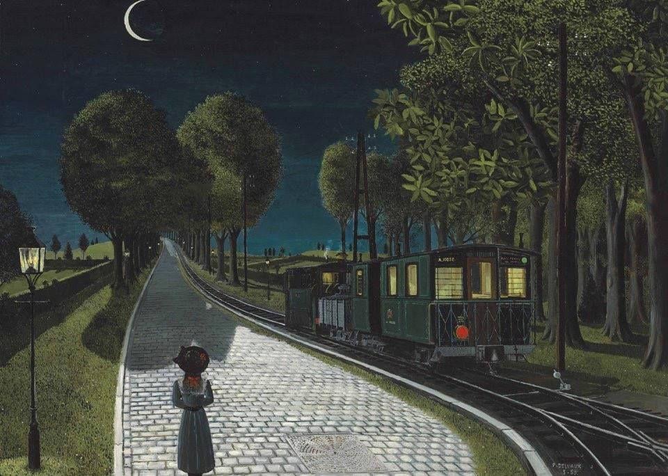 """Paul Delvaux (1897–1994) """"Le vicina""""l, 1959"""
