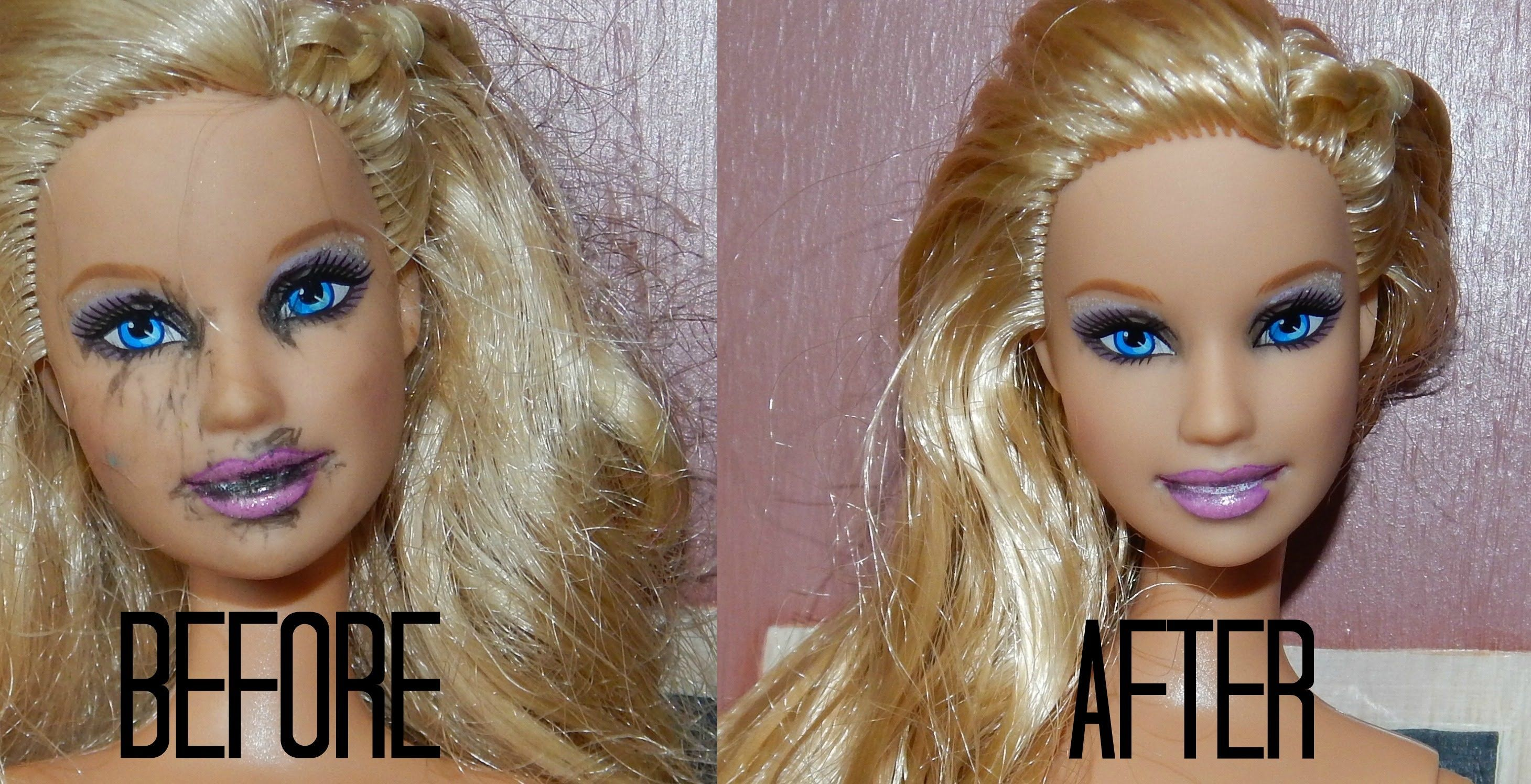 This Tutorial Will Teach You How To Restore Old Stained Barbies And Make Them Look Like New Our Website Http Doll Hair Barbie Hair Custom American Girl Dolls