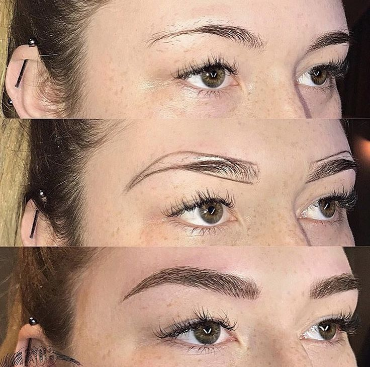 Microblanding Before And After Permanent Makeup Eyebrows Permanent Makeup Eyeliner Eyebrow Makeup