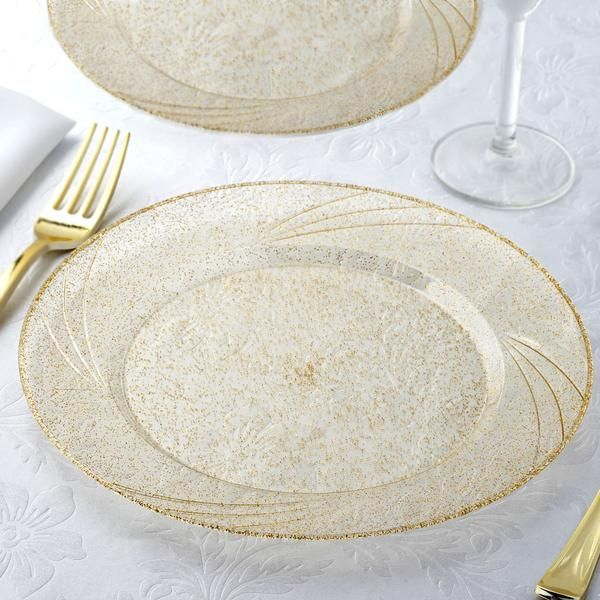 12 Pack 9\  Disposable Gold Dust Round Dinner Plates With Shiny Gold Rim | Plastic plates Plastic cups and Banquet & 12 Pack 9"|600|600|?|en|2|dc6787dd7e86b1aed48ed257c2904130|False|UNLIKELY|0.3058120012283325