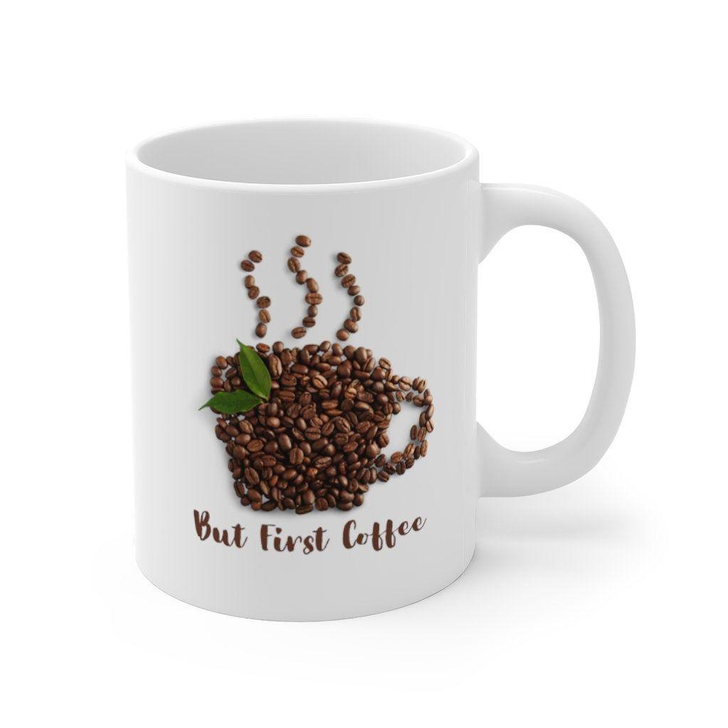 But first coffee mug 11oz coffee beads coffee lover etsy