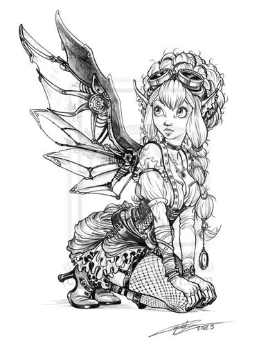 Steampunk fairy by Capia on DeviantArt | my coloring pages ...
