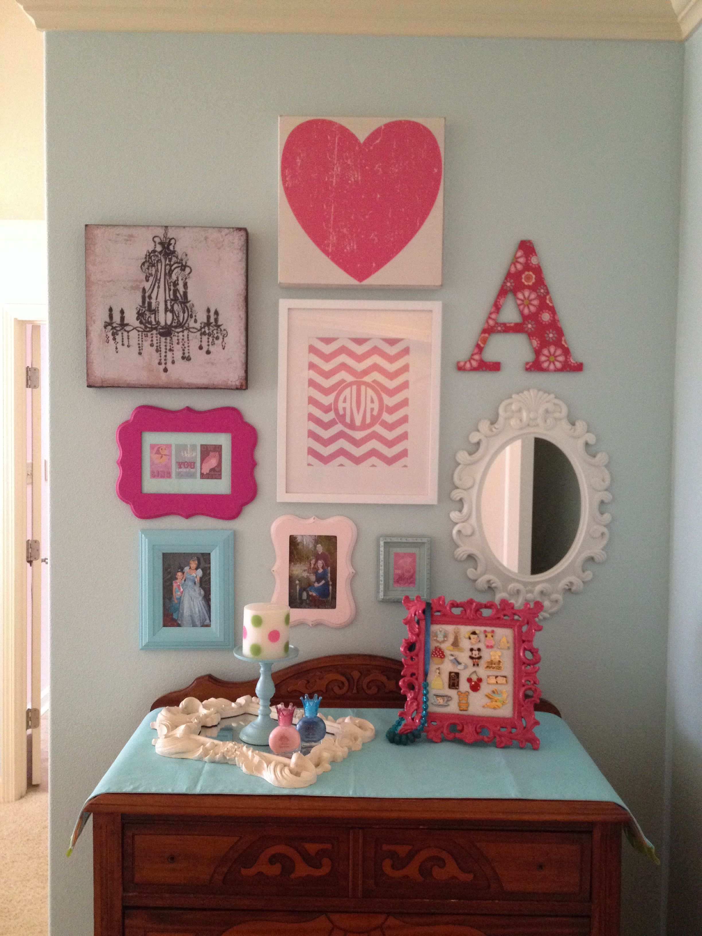 Girls Room Gallery Wall Girls Room Wall Decor Wall Decor