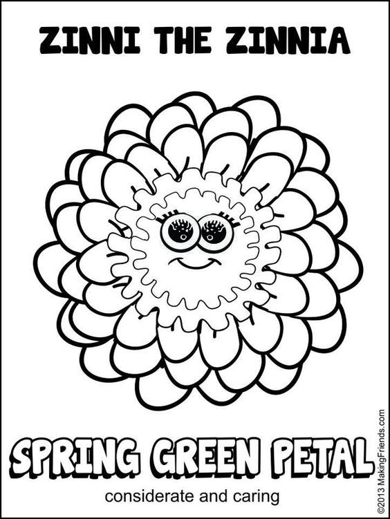 Daisy Girl Scout Spring Green Petal Considerate And Caring Print