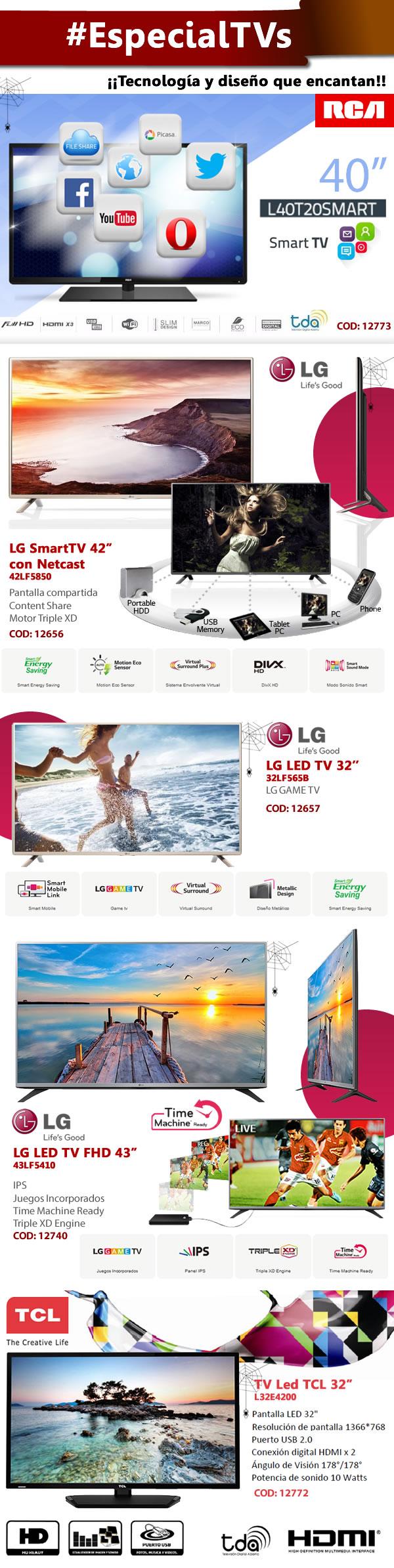 "#EspecialTVs  RCA Argentina LG Electronics Argentina TCL Argentina 32"" 40"" 42"" 43""    www.gvinformatica.com.ar #Olivos_VL #VecinosVL #FloridaEsteVL"