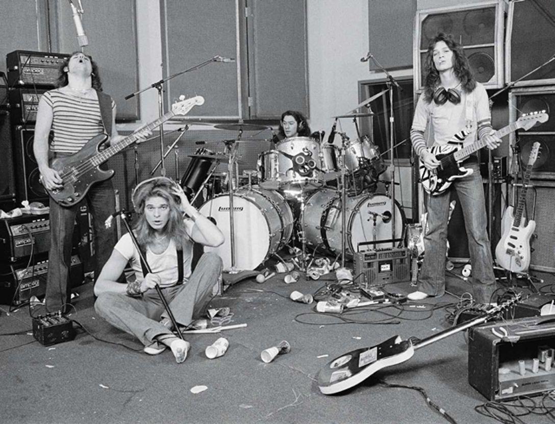 Van Halen In The Studio 1979 Eddie Van Halen Van Halen Halen
