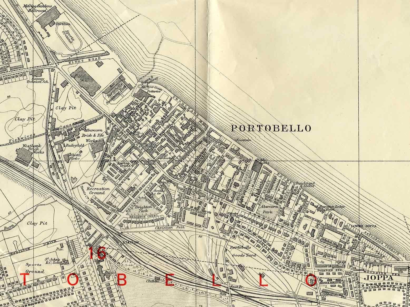 Leith Scotland Map.Edinburgh And Leith Map 1940 Portobello Section My Childhood