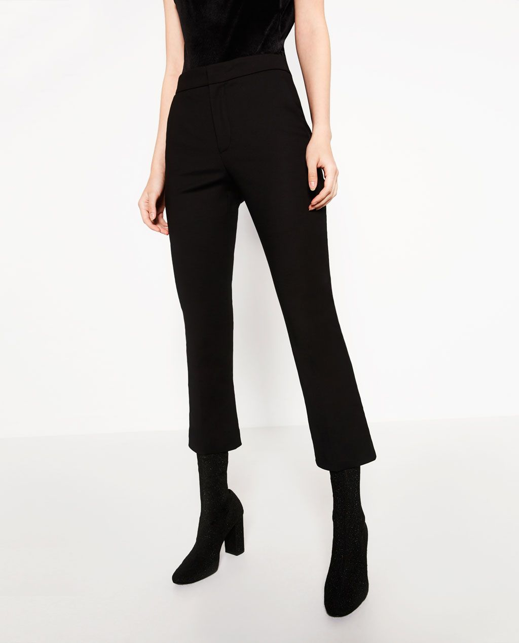 e4056dca Image 3 of CROPPED FLARED TROUSERS from Zara | Home | Trousers ...