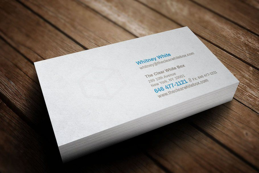 Clear White Box Business Card Business Card Template White Box Cards