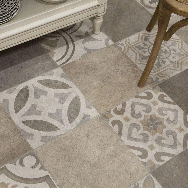 SomerTile Xinch Asturias D Cor Jet Mix Ceramic Floor - 13 inch floor tiles