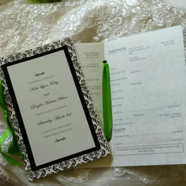 Diy Wedding Program Sbooking Paper Card Stock Plus Parchment Inside Embled With Ribbon
