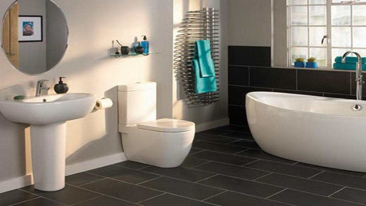 Slate Bathroom Floor Tiles Decor Ideasdecor Ideas Tile Design And