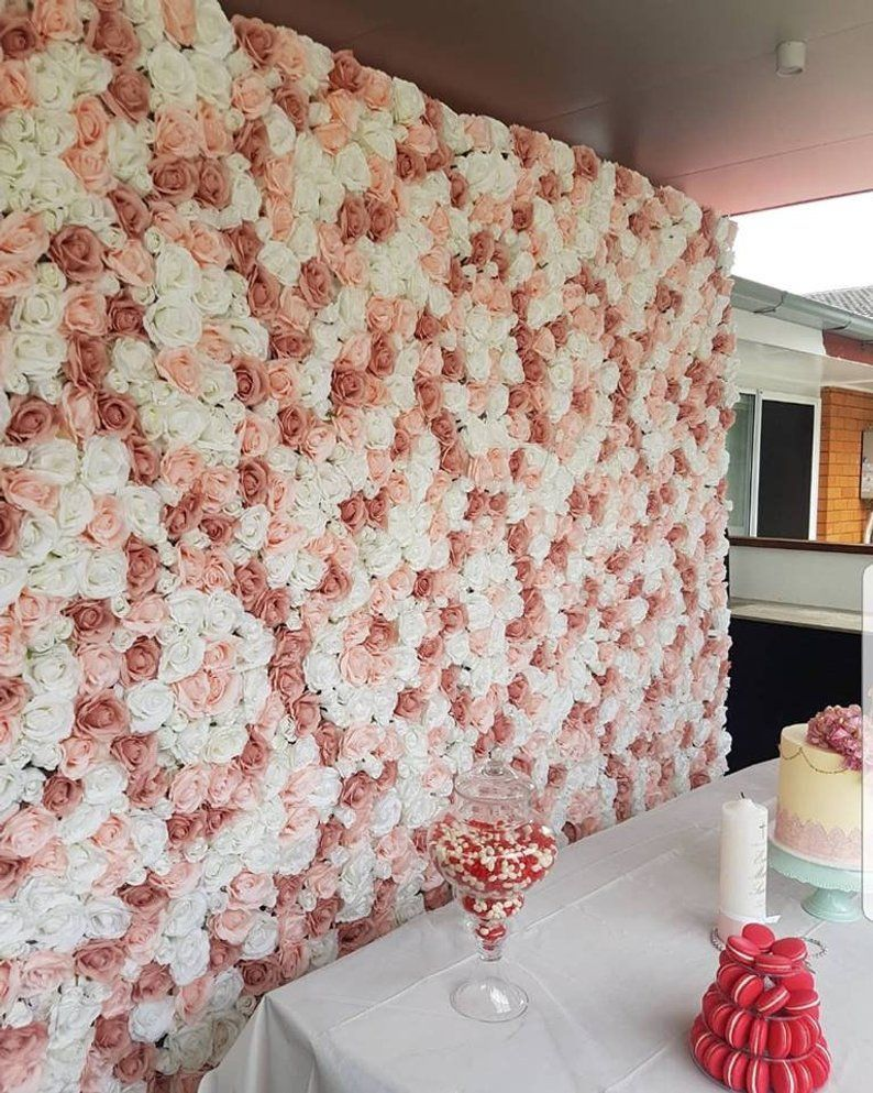 Wedding Flower Wall Panel For Party Birthday Decoration Artificial Rose Floral Wall Party Arrangement Wedding Photography Backdrop 40 60cm Flower Wall Wedding Diy Flower Wall Flower Wall