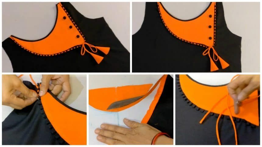 How To Make Beautiful Neck Design With Easy Steps Dresses