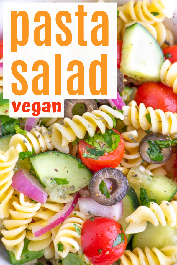Vegan Italian Pasta Salad Plant Well Recipe In 2020 Easy Homemade Pasta Homemade Pasta Recipe Vegan Recipes Healthy