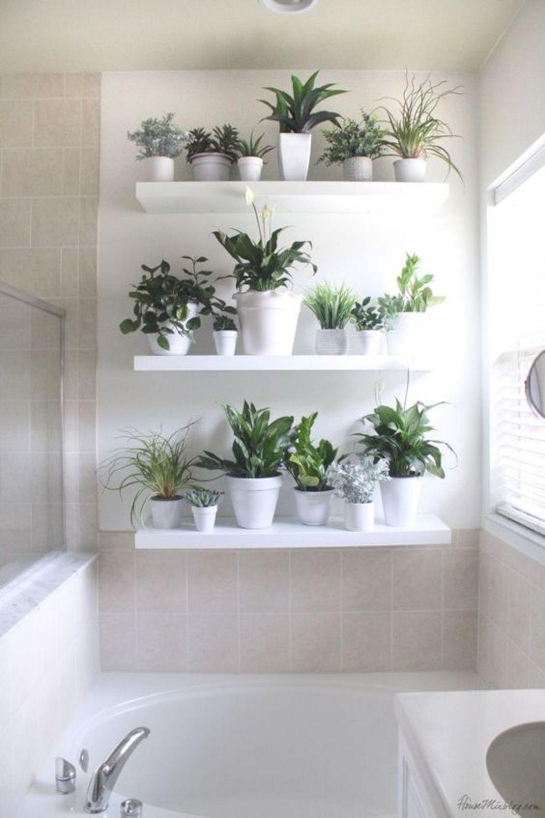 19 Unique Home Decor Ideas With Plants Ikea Lack Shelves Plant Wall Bathroom Plants