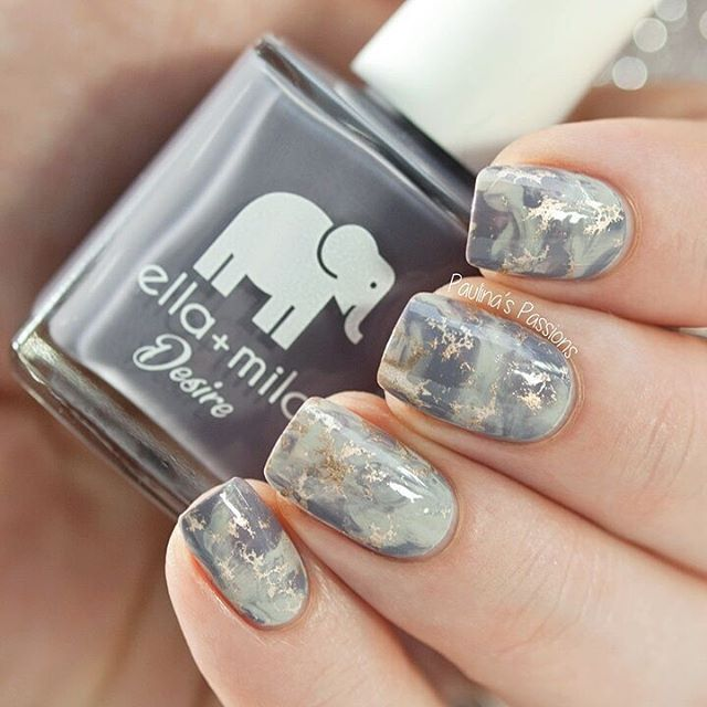 What do you guys think of these marble stone nails? I\'m loving them ...
