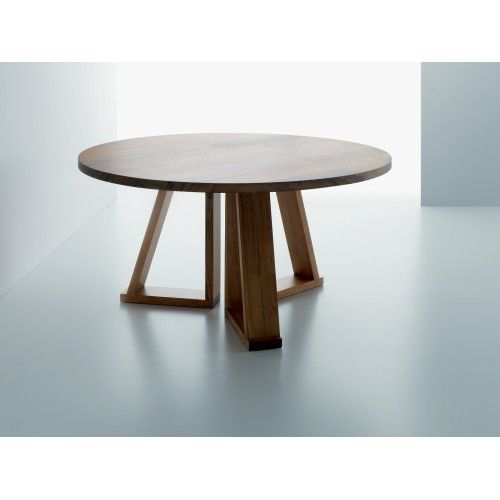 Solid tavolo rotondo in legno massiccio di Miniforms | Tavoli ...