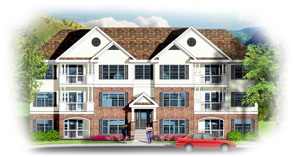 Plan 83117DC: 3 Story 12 Unit Apartment Building | Breezeway, Three ...