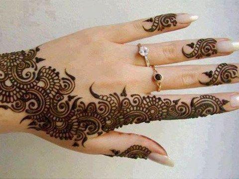 Mehndi Art Simple : Simple arabic mehndi designs mendhi