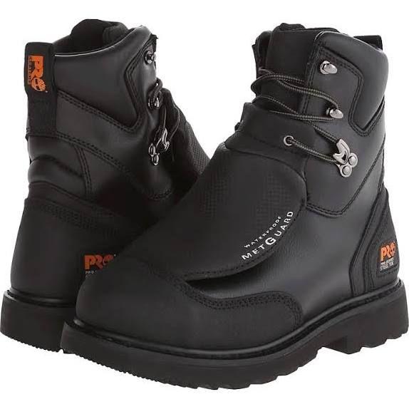 Timberland PRO Met Guard 8 Waterproof Steel Toe Men's Work Boots Black  Ever-Guard Leather