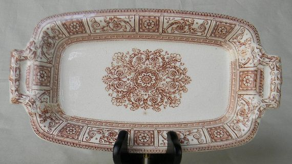 Antique  Aesthetic Movement Brown by EnglishTransferware on Etsy