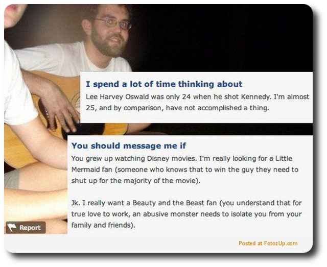 What not to put on online dating profile