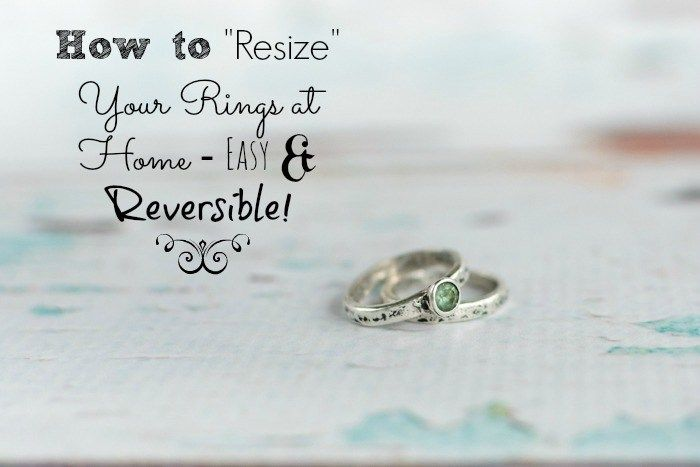 How To Resize Your Ring At Home Comfortable Pretty Way To Make Your Loose Ring Fit Big Rings How To Make Rings Pear Shaped Diamond Ring