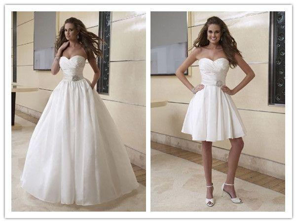 Wedding Dresses Ball Gown Sweetheart: Taffeta Sweetheart Strapless Neckline Pleating And Beading