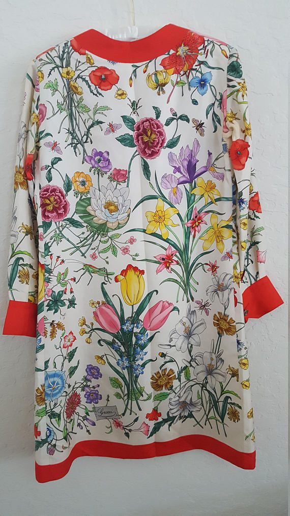 ad0a6364551 Vintage 1970s Gucci Silk Tunic or Dress - As Seen in Gucci Museum ...