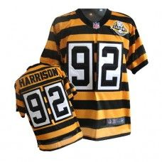 official photos ebfe3 b8b8f NFL Mens Elite Nike Pittsburgh Steelers #92 James Harrison ...