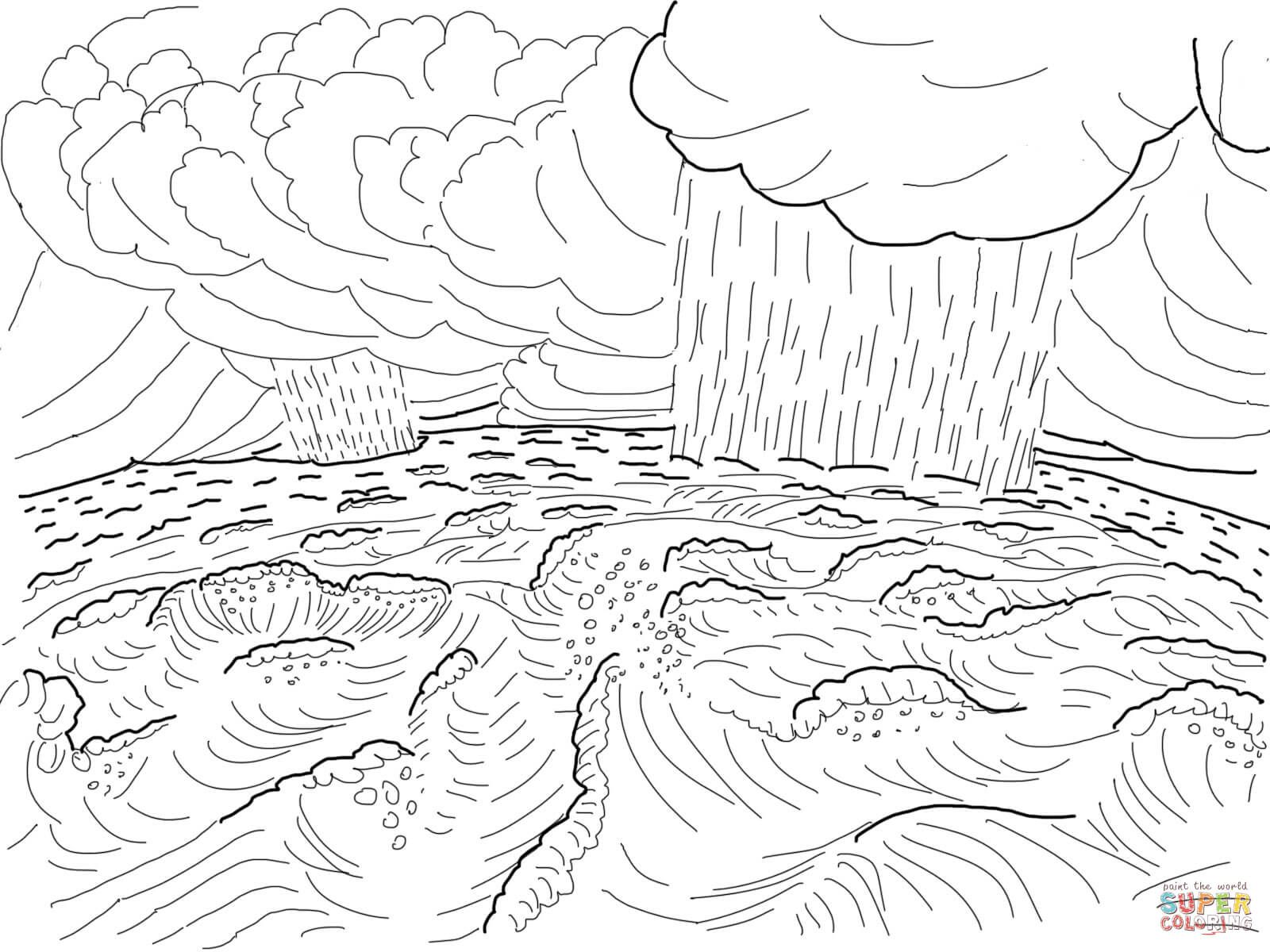 Second Day of Creation coloring page | Free Printable ...