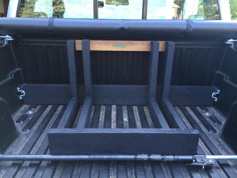 Bike rack pickup bed custom build bike rack truck