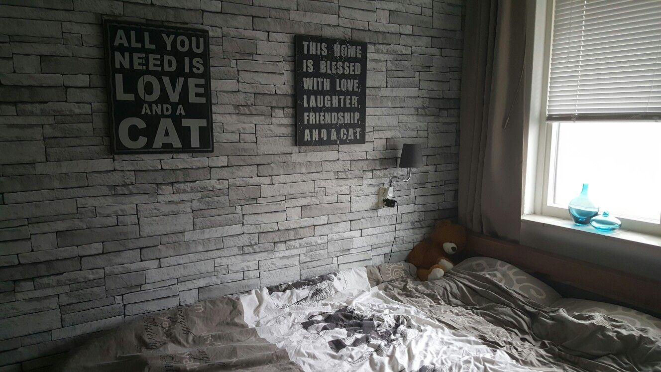 Praxis DecoMode stones licht grijs behang.   slaapkamer   Pinterest
