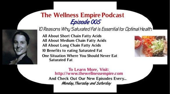 Have you listened to my podcast episode (Podcast Episode 005 - 10 Reasons Why Saturated Fat is Essential for Optimal Health) yet?