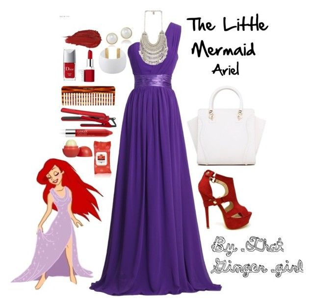 The Little Mermaid by taylormarieallen on Polyvore featuring polyvore, moda, style, Gogo Philip, Carolee, Urban Decay, Clinique, Yes to Tomatoes, Eos, Mason Pearson, Cortex and Christian Dior