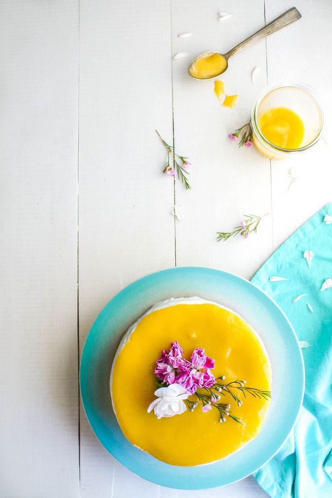 Cheesecake léger au coulis de mangue - aime & mange